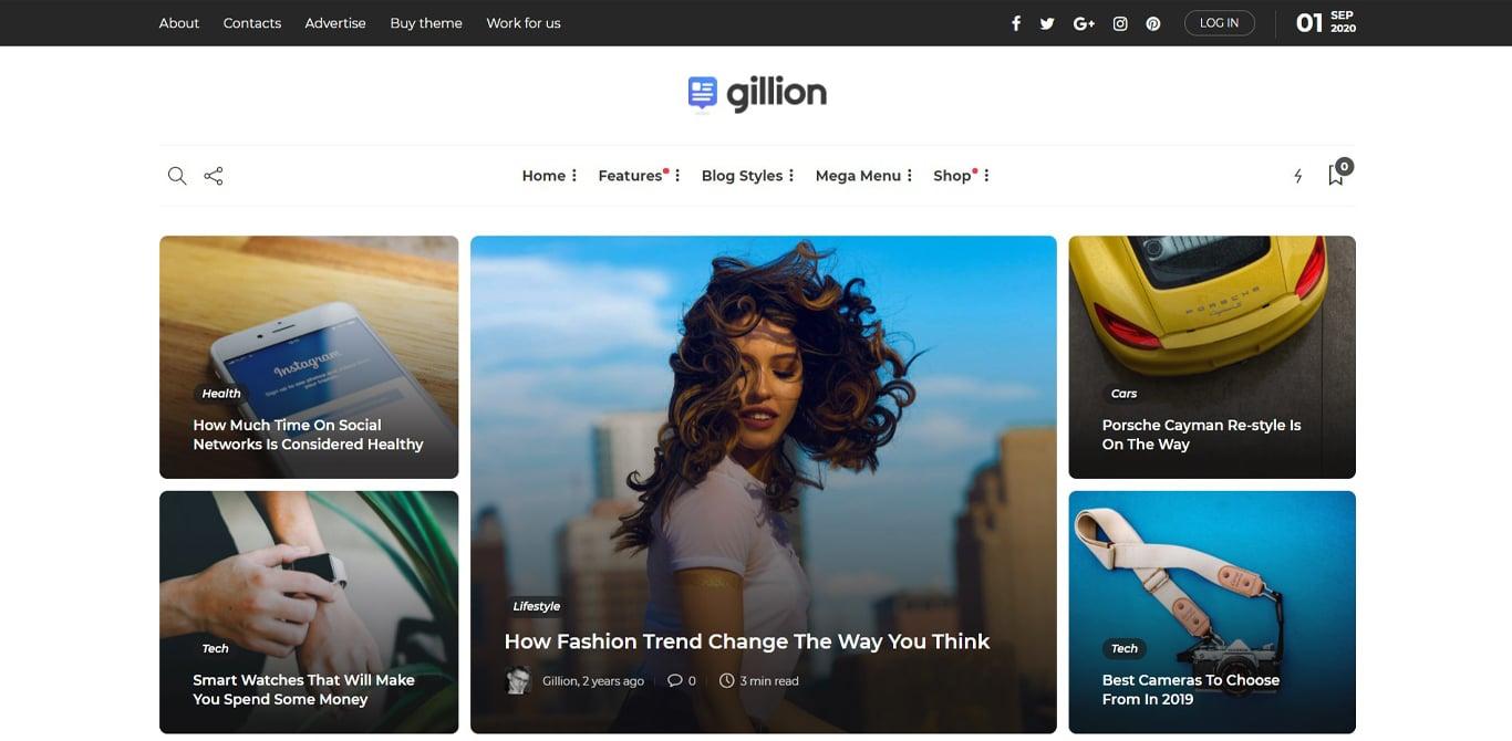 Gilion theme demo