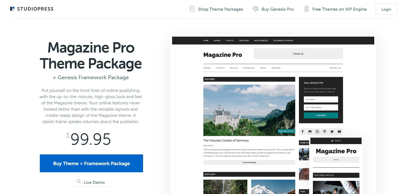Magazine theme site image