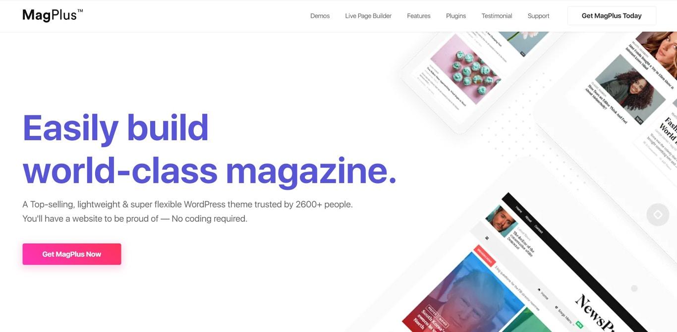 Magplus theme site image