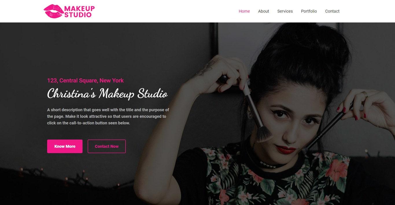 Makeup artist brizy template