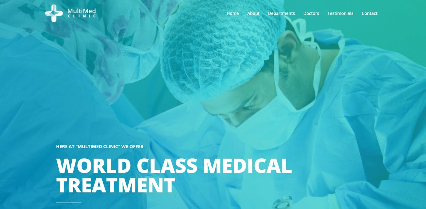 Multimed clinic brizy template