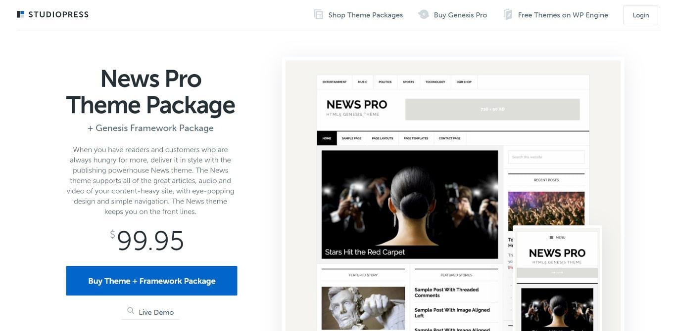 News Pro theme site image