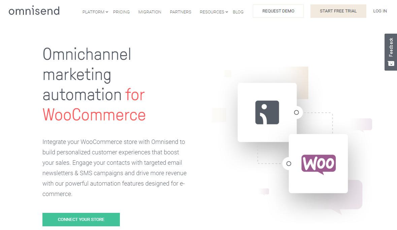 Omnisend WooCommerce Plugin Homepage