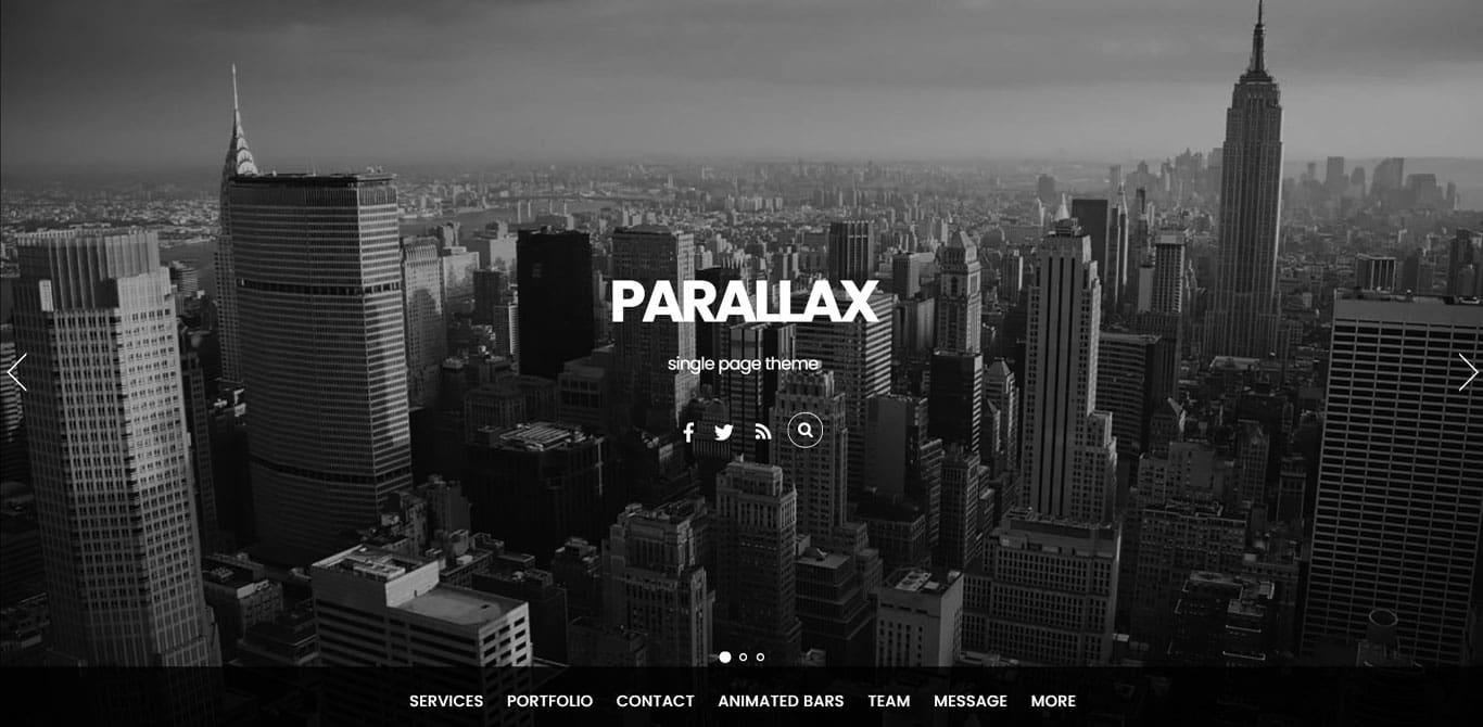 Parralax theme demo