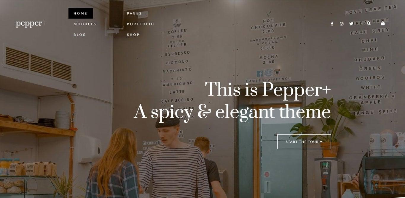 Pepper plus theme demo