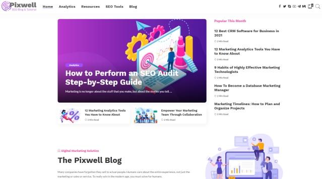 Pixwell theme demo