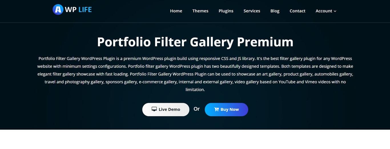 Portfolio gallery plugin site image