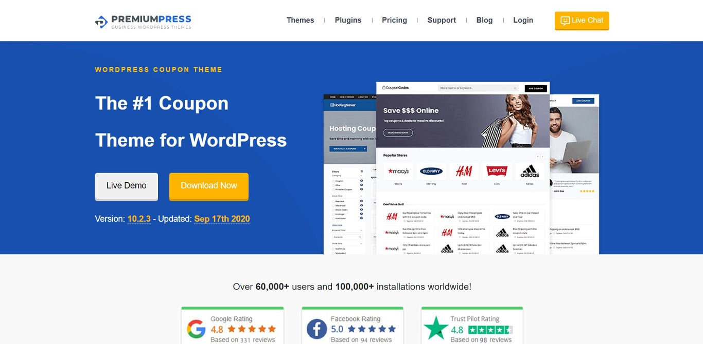 Coupon premiumpress theme demo
