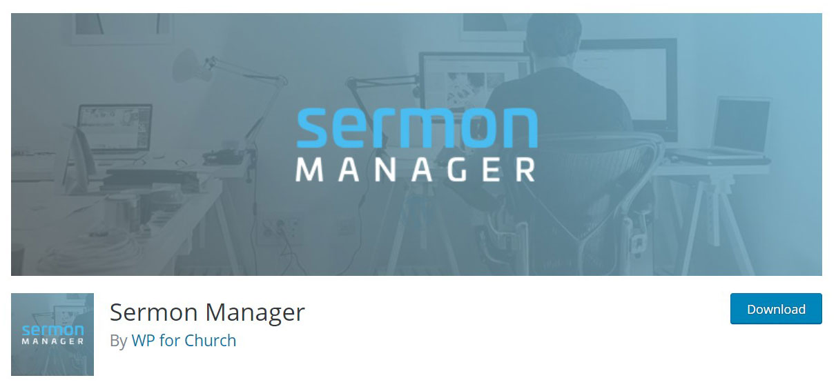 Sermon manager plugin image