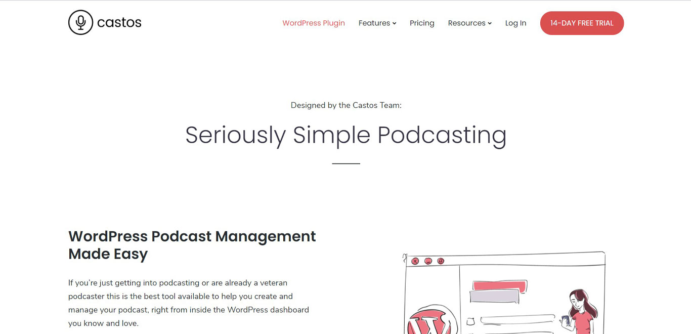 Seriously simple podcasting plugin image