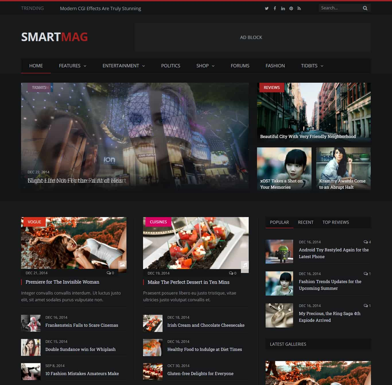Smartmag theme demo