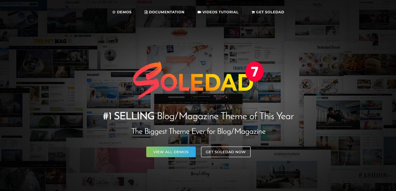 Soledad theme site image