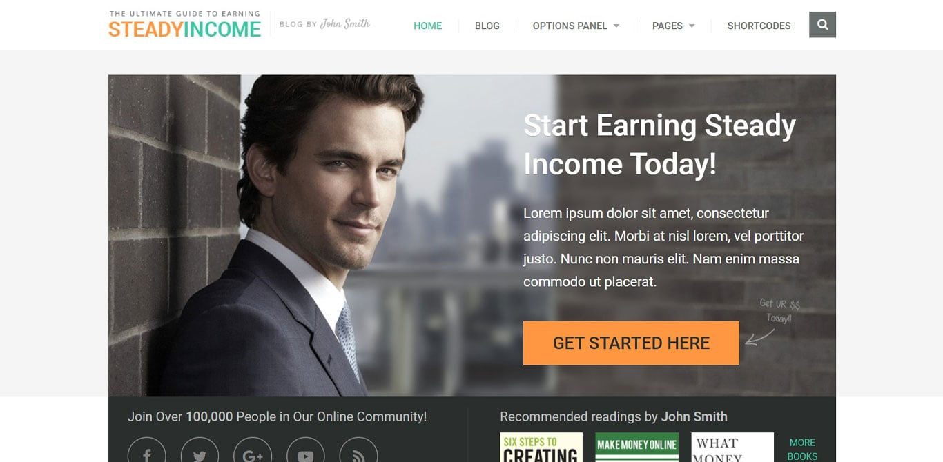 Steady income theme demo