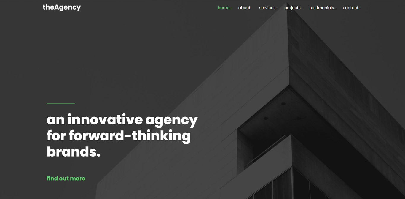Agency brizy template