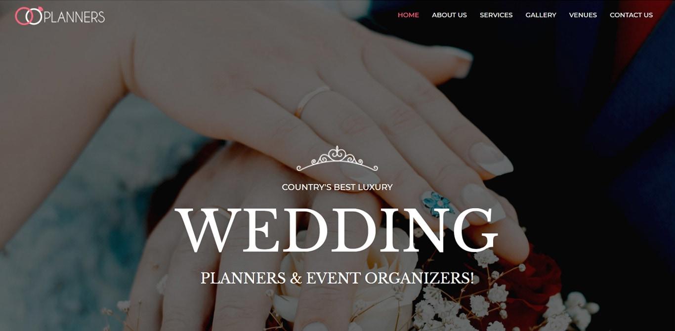 Wedding planner brizy template