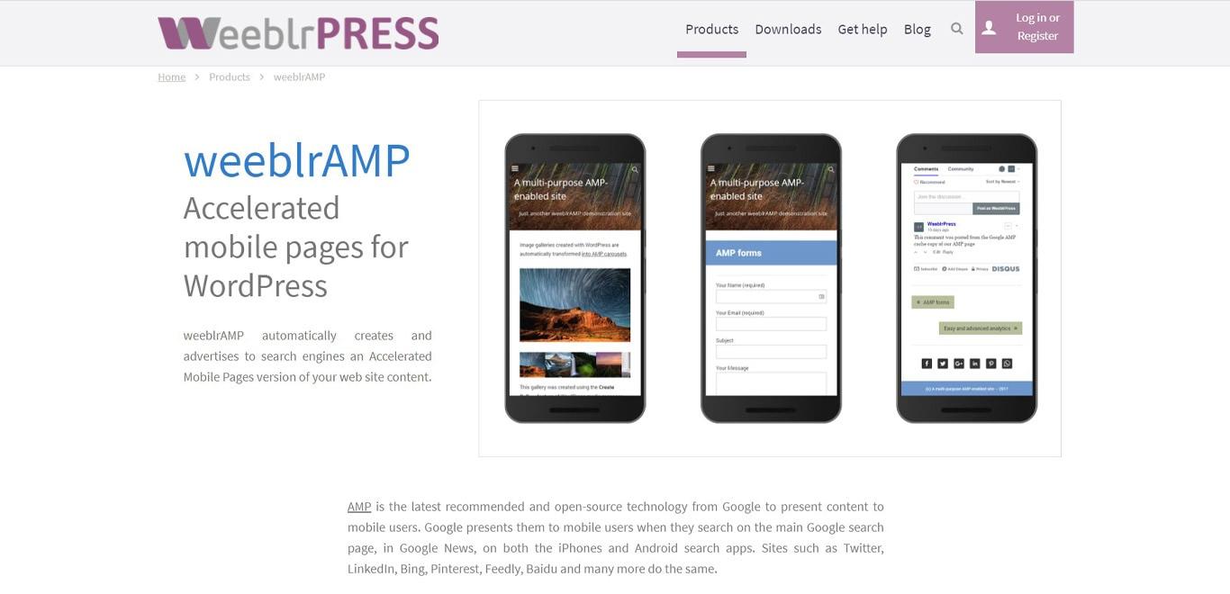 Weeblr amp site image