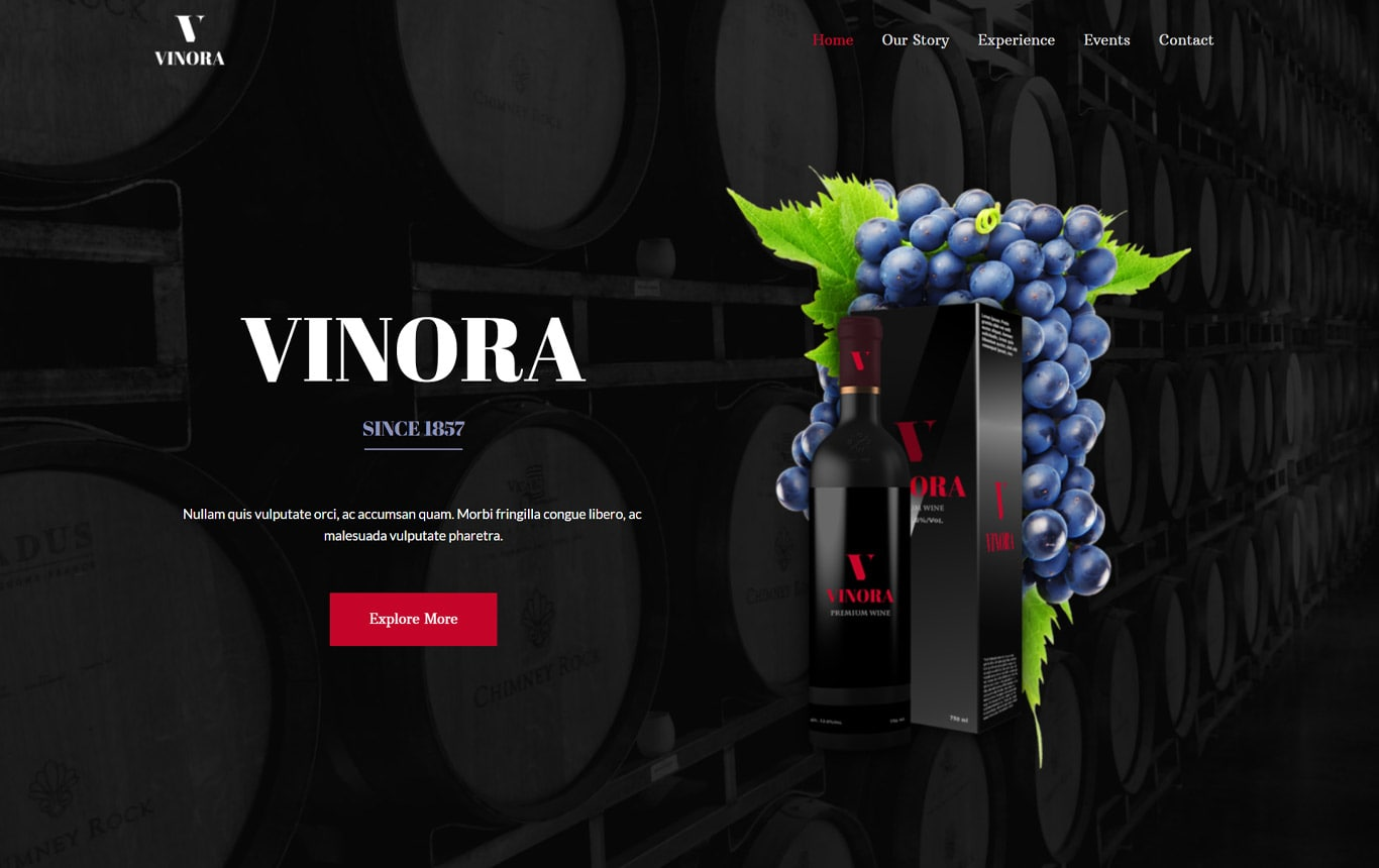 Winery brizy template