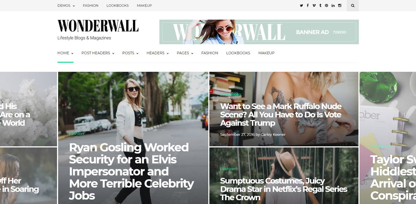 Wonderwall theme demo