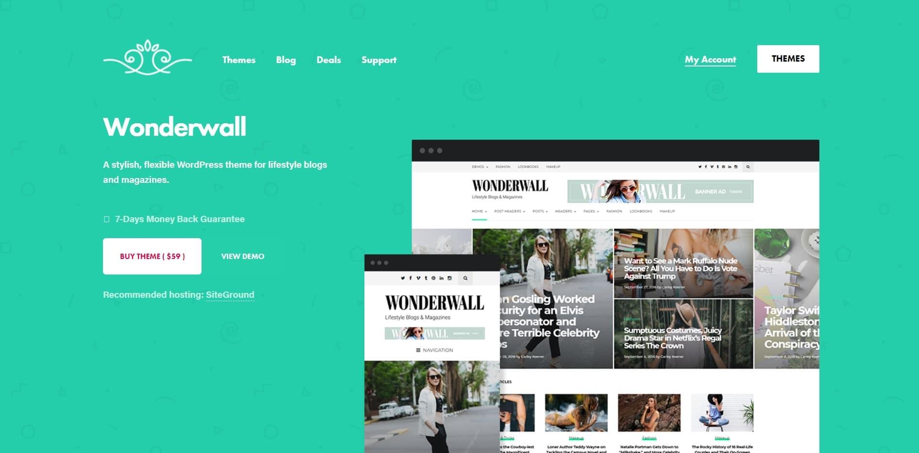 Wonderwall theme site image