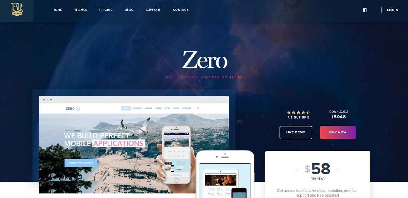 Zero theme demo