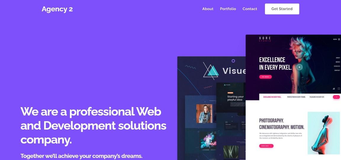Agency 2 Ultra demo site