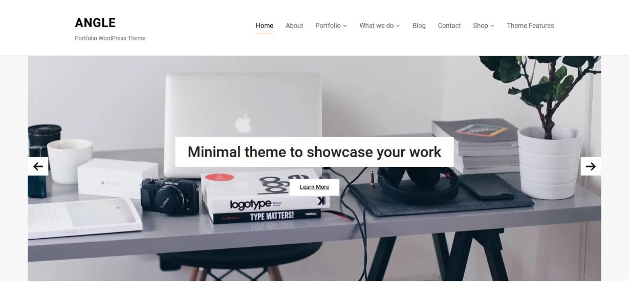 Angle Portfolio WordPress Theme