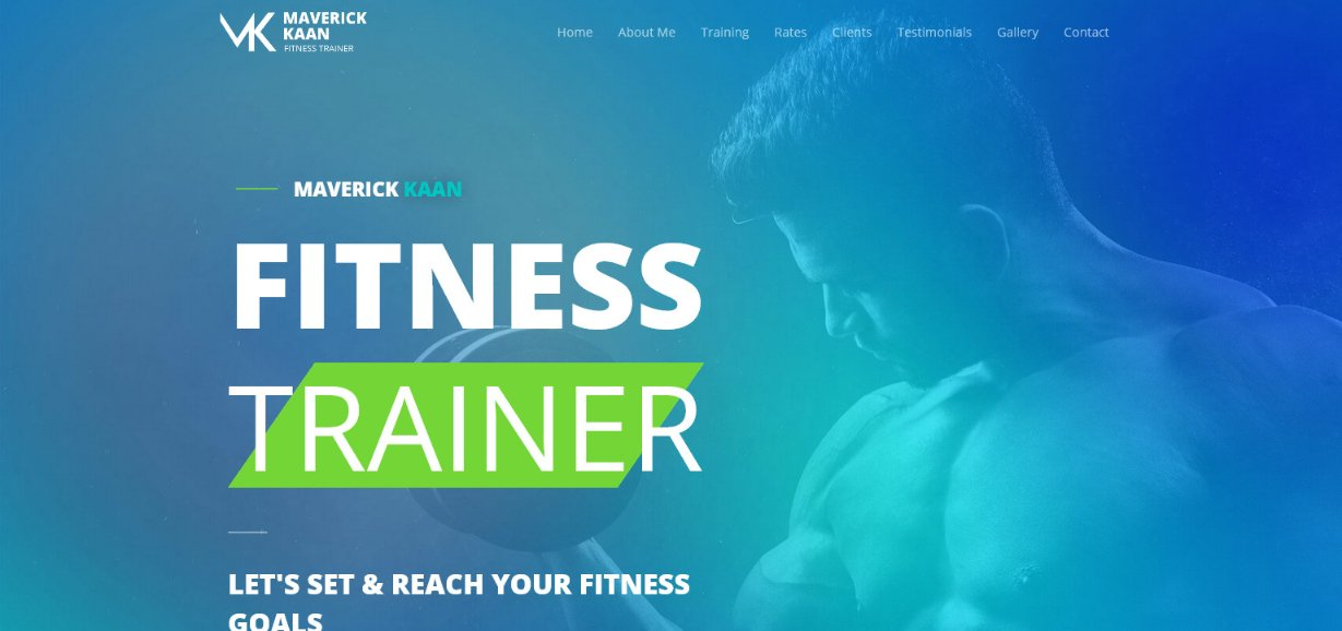 Astra Fitness Trainer demo site
