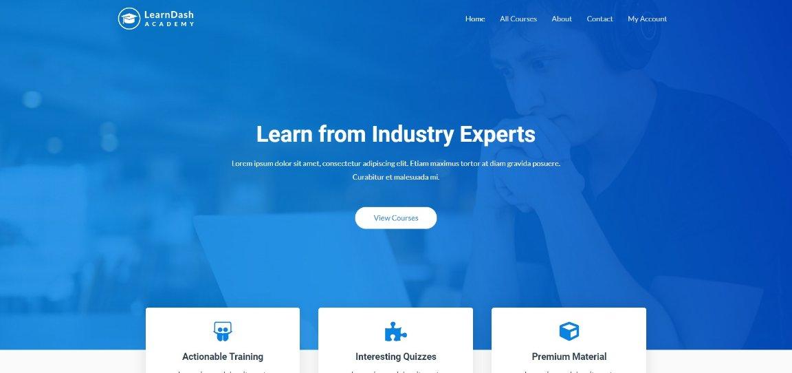 Astra LearnDash Academy demo site