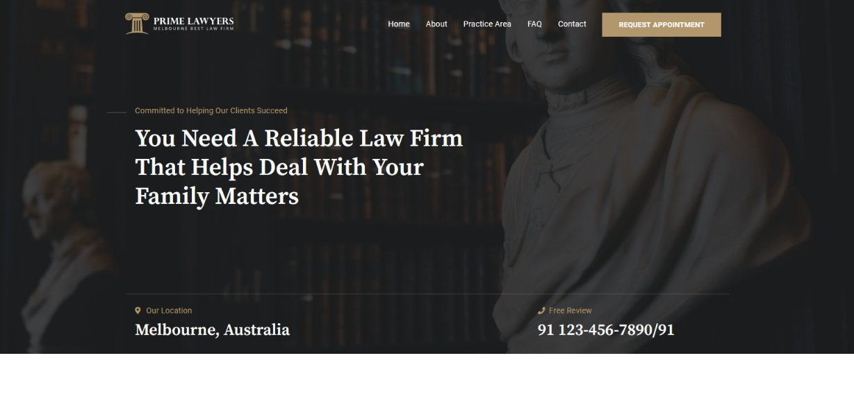Astra Prime Lawyers WordPress theme
