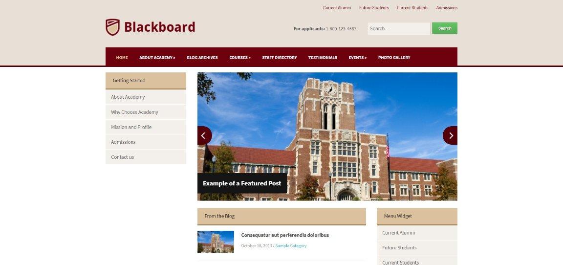 Blackboard demo site
