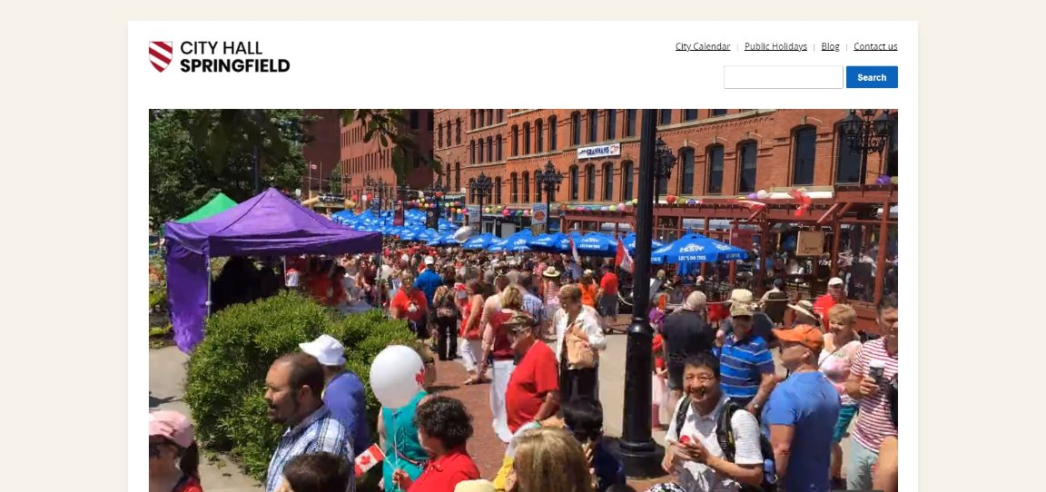 City Hall Theme demo website