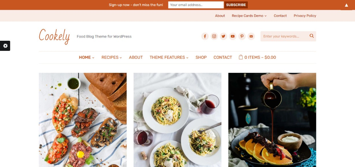 Cookely Food Blog Theme for WordPress