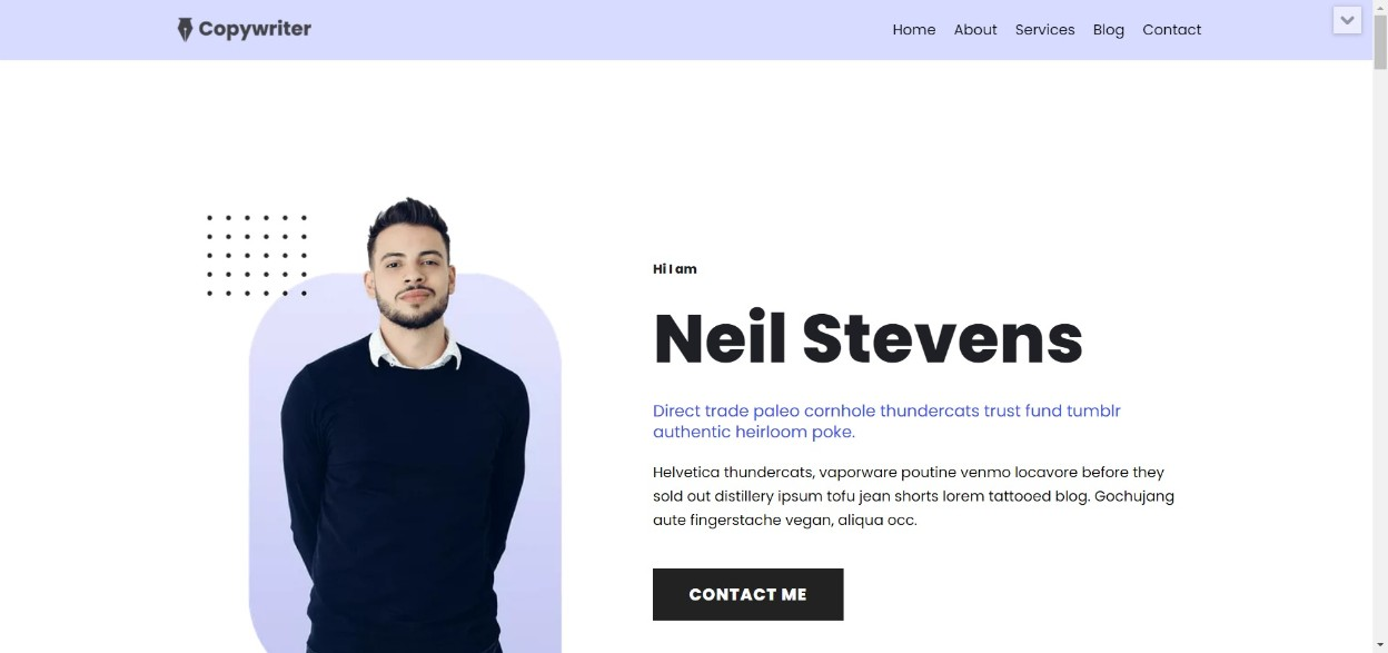 Copywriter Template Demo neve