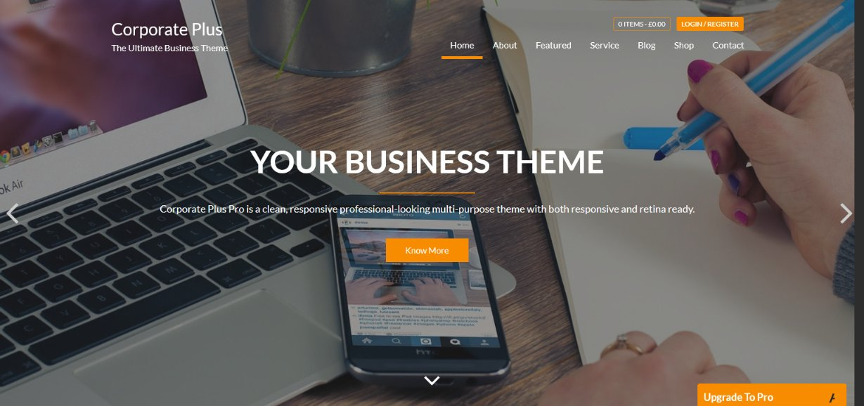 Corporate Plus WordPress business theme