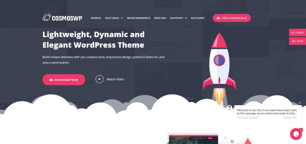 CosmosWP demo site