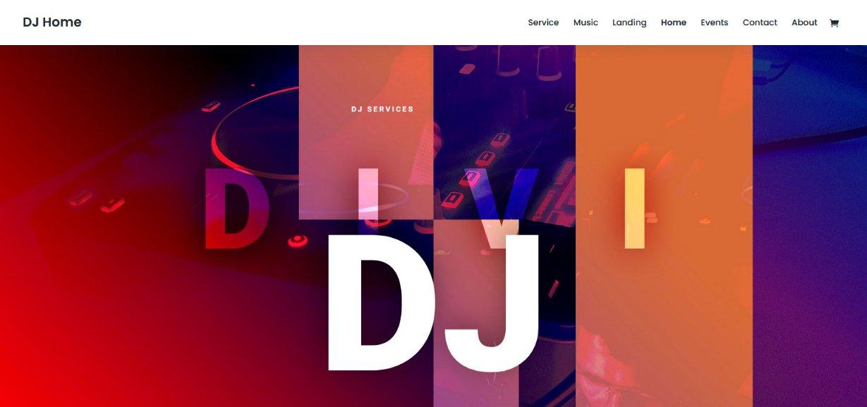 DJ Home Divi website