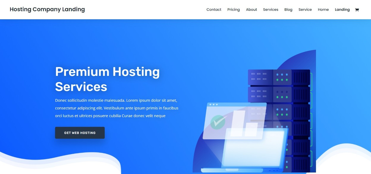 Divi hosting responsive wordpress theme