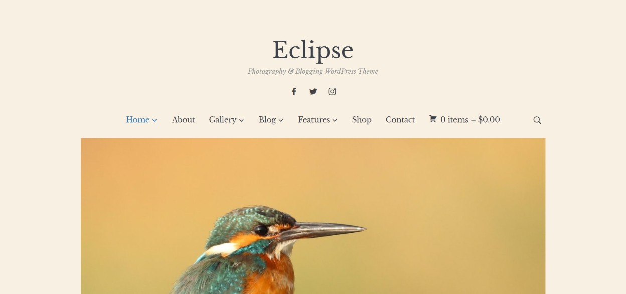 Eclipse Photography & Blogging WordPress Theme