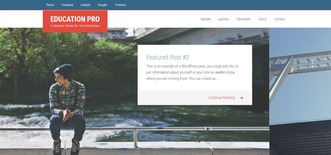 Education Pro Genesis Theme for Your Institution