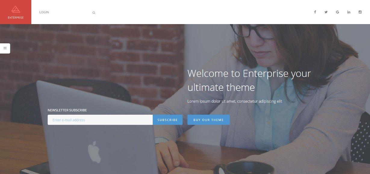 Enterprise theme demo