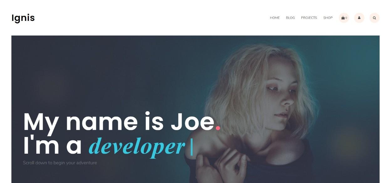 Ignis demo site
