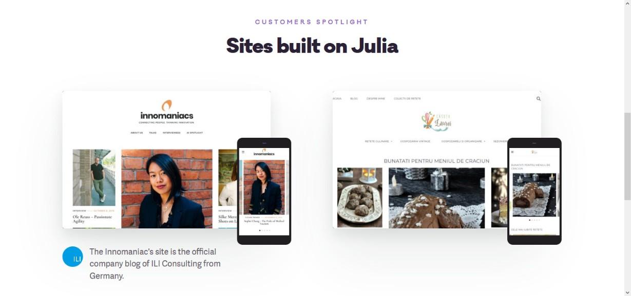Julia Food Blog WordPress Theme