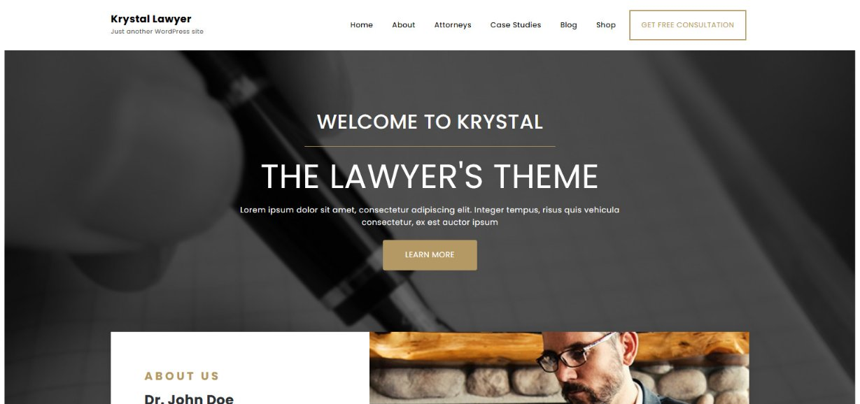 Krystal Lawyer wordpress theme