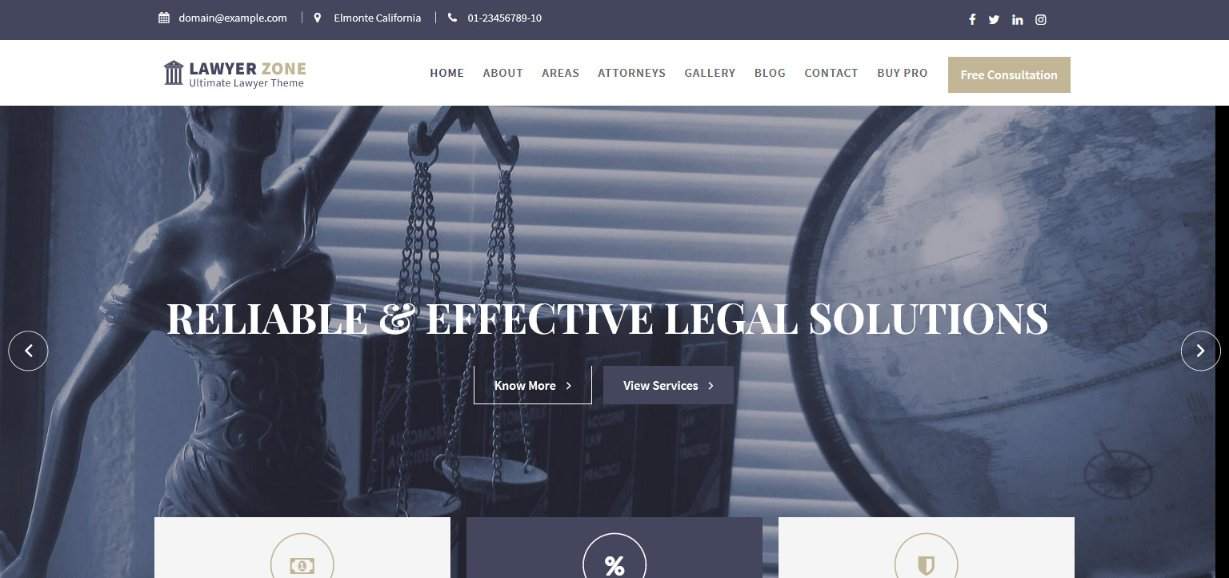 Lawyer Zone Lawyer Theme demo