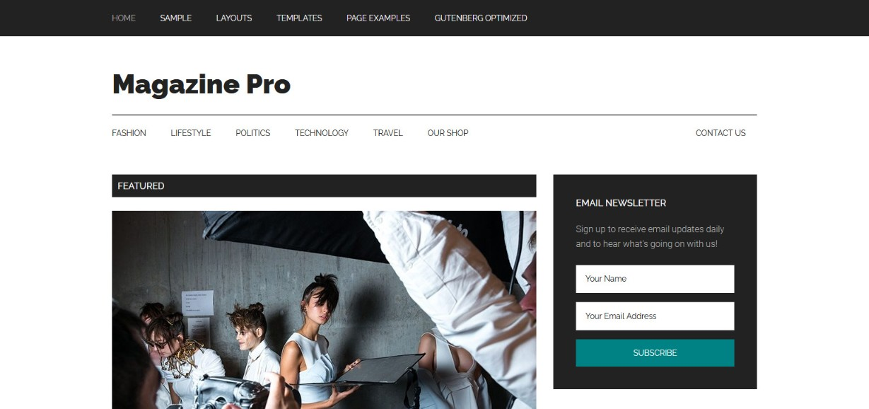 Magazine Pro Gutenberg optimized wordpress theme