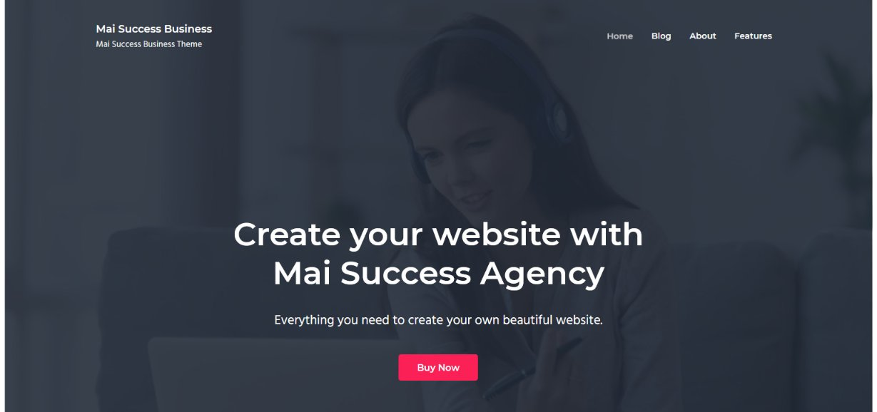 Mai Success Business wordpress theme