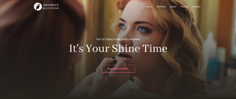 Makeup Artist Studio demo site