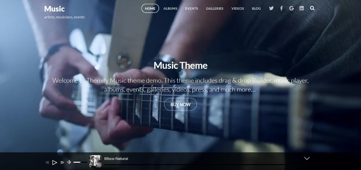 Music Themify Theme Demo