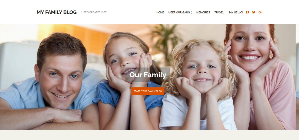 My Family Blog wplook