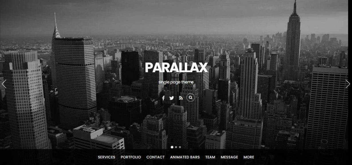 Parallax single page theme